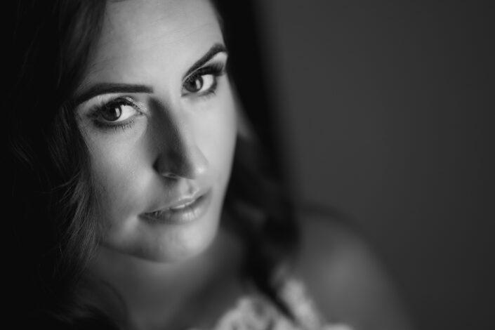 bridal portrait black and white knockranny westport
